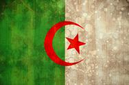 Stock Illustration of Algeria flag in grunge effect