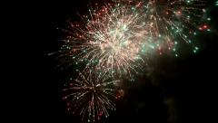 Fireworks at night Stock Footage