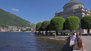Stock Video Footage of Italy, lake Como,  embankment of town Como.