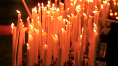Prayers Church Candles - stock footage