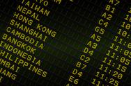 Stock Illustration of Black airport departures board for asia