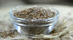 Portion of flaxseed (loopable) Stock Footage