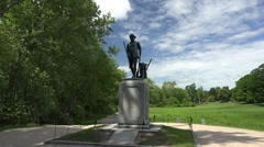 P03673 Minuteman National Historic Site Concord Masschusetts Stock Footage