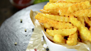 Stock Video Footage of french fries (loopable)