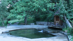 Very cold source with pure and healing water near Lvov Stock Footage
