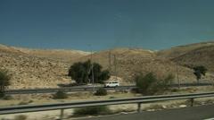 Trip on Israel, road through the Judaic desert. Stock Footage