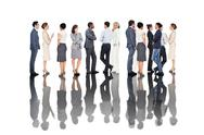 Stock Photo of Many business people standing in a line