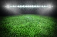 Stock Illustration of Football pitch under spotlights
