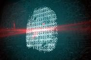 Stock Illustration of Digital security finger print scan