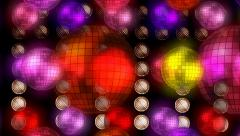 Flaying Disco Balls Animation Stock Footage