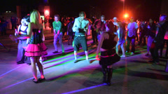 EDM rave and dance club party Stock Footage