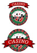 Casino roulette with gambling elements Piirros