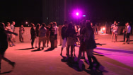 Stock Video Footage of Small rave party on parking garage roof