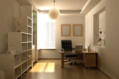Modern study room Stock Illustration