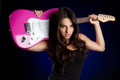 Rock star girl Stock Photos