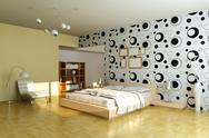 Stock Illustration of modern bedroom