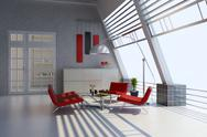Stock Illustration of modern home interior