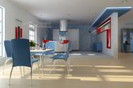 Stock Illustration of modern dining room