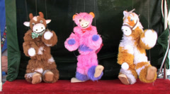 1080p Animal Marionettes Dancing Stock Footage