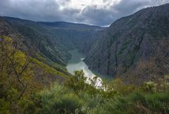 canyon de rio sil in galicia, spain - stock photo