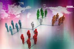 network with people - stock illustration
