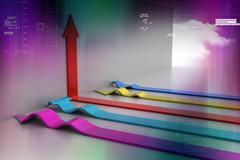 3d arrows Stock Illustration