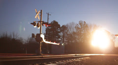 Cinematic Train Pass Close Up - stock footage