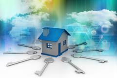 Home key concept Stock Illustration