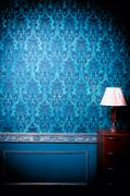 Luxury vintage interior with blue toning Stock Photos