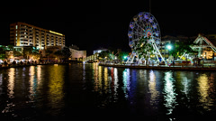 Eye On Malacca Ferris Wheel - Panning Motion Stock Footage
