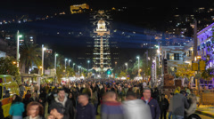 Haifa festival timelapse 1213 5 4K Stock Footage