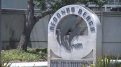 Redondo Beach  Signage - stock footage