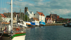 Wismar, Old Harbour, Mecklenburg Western Pomerania, Germany Stock Footage