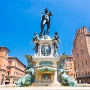 Fountain of Neptune, Bologna, Italy. - stock photo