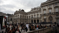 London Fashion Week Somerset House Time Lapse 2 Stock Footage