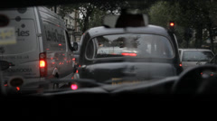 London Traffic Late 4 Stock Footage