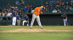 Baseball Pitcher, Pitching, Throwing, Athletes, Sports - stock footage