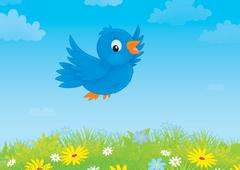 Blue bird Stock Illustration
