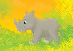 Rhino - stock illustration