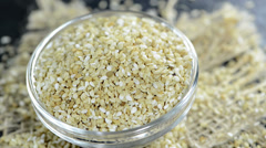 Sesame seeds (not loopable) Stock Footage