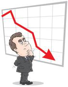 decline in rates - stock illustration