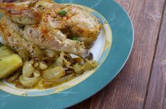 poulet aux oignons - stock photo