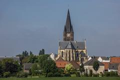 they abbey of village thorn in limburg - stock photo