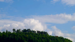Rapid movement of clouds. Time lapse. Stock Footage