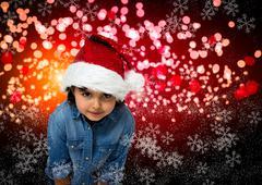 Child christmas card Stock Illustration