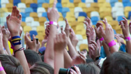 Stock Video Footage of Waving hands of fans at a rock concert