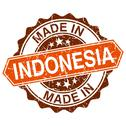 Stock Illustration of made in indonesia vintage stamp isolated on white background