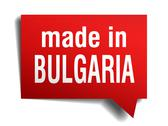 Stock Illustration of made in bulgaria red  3d realistic speech bubble isolated on white background