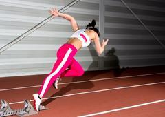 sprinter woman - stock photo