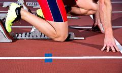sprinter man - stock photo